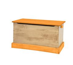 WOOD TOY BOX Amish Handmade Storage Chest in Natural Orange Small Medium & Large - $280.14+