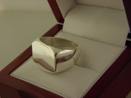 Mexico Sterling Silver 925 Square Ring Size 9 #11 - £41.08 GBP