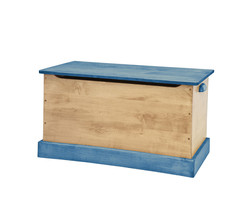 WOOD TOY BOX Amish Handmade Storage Chest ~ Natural Blue in Small Medium & Large - $280.14+