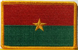 Burkina Faso Embroidery Iron-on Patch Emblem Gold Border - $3.99