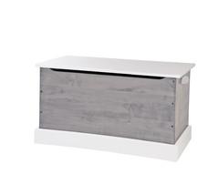 TOY BOX Amish Handmade GRAY & WHITE Wood Storage Chest in Small Medium & Large - $280.14+