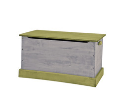 WOOD TOY BOX ~ Green & Gray Amish Handmade Storage Chest in Small Medium & Large - $280.14+