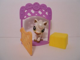 LPS #338 Littlest Pet Shop Horse with gate and Hay - $17.87