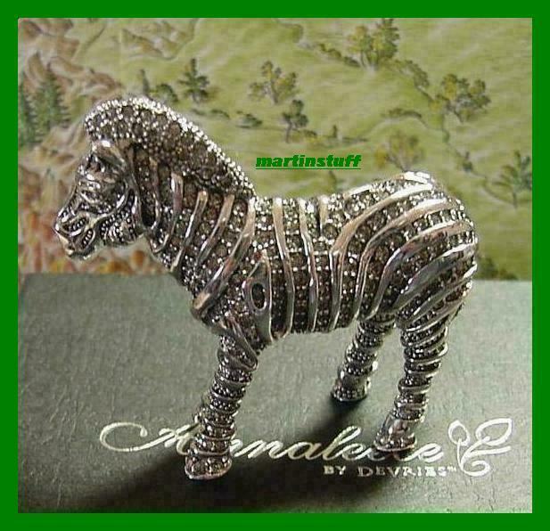 Annaleece® *ZEBRA* Made With 100% Swarovski Crystal Elements BNIB