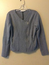 Ann Taylor Loft sz Small Side Zip Gray Knit Wool Blend Cardigan Sweater - $22.24