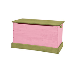 WOOD TOY BOX Pink & Green Amish Handmade Storage Chest in Small Medium & Large - $280.14+
