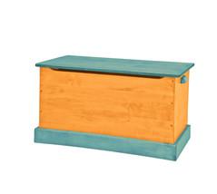 WOOD TOY BOX Orange & Turquoise Amish Handmade Chest in Small Medium & Large USA - $280.14+
