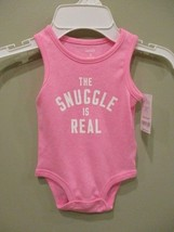 NWT Carters Baby Girl Infant One Piece Bodysuit Pink Romper Size 6 Months - $6.83