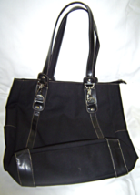 Franco Sarto Large Black Messenger Tote Shoul... - $24.95