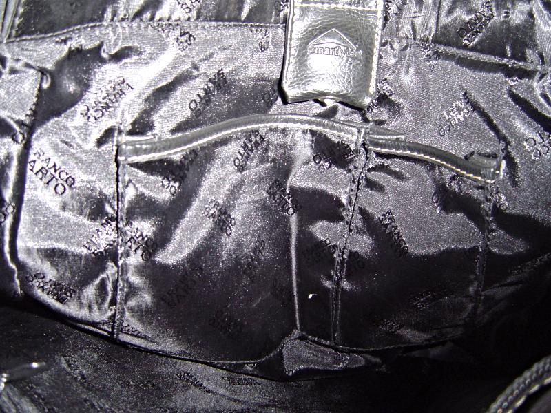 Franco Sarto Large Black Messenger Tote Shoulder Bag