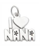 STERLING SILVER ONE SIDED I LOVE NANA CHARM / PENDANT - $11.83