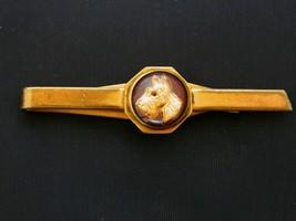"Vintage 60s Tie Clip Clasp Scottie Dog Gold Tone Men's Tie Accessories 2.5"" - $28.04"