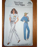 Vogue Very Easy Misses Size 8-12 Jumpsuit Pattern #9950  - $4.99