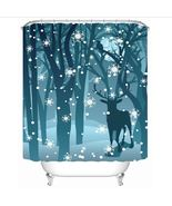 Merry Christmas Bathroom Decoration Polyester Fabric Waterproof Shower C... - $12.99+