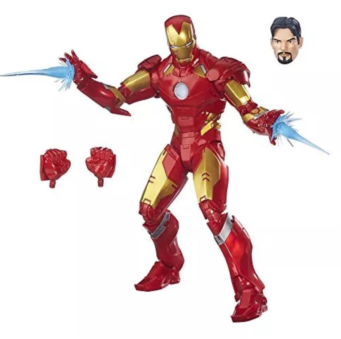 "IRON MAN Hasbro Marvel Legends 12"" Collector Series Action Figure Nib New"