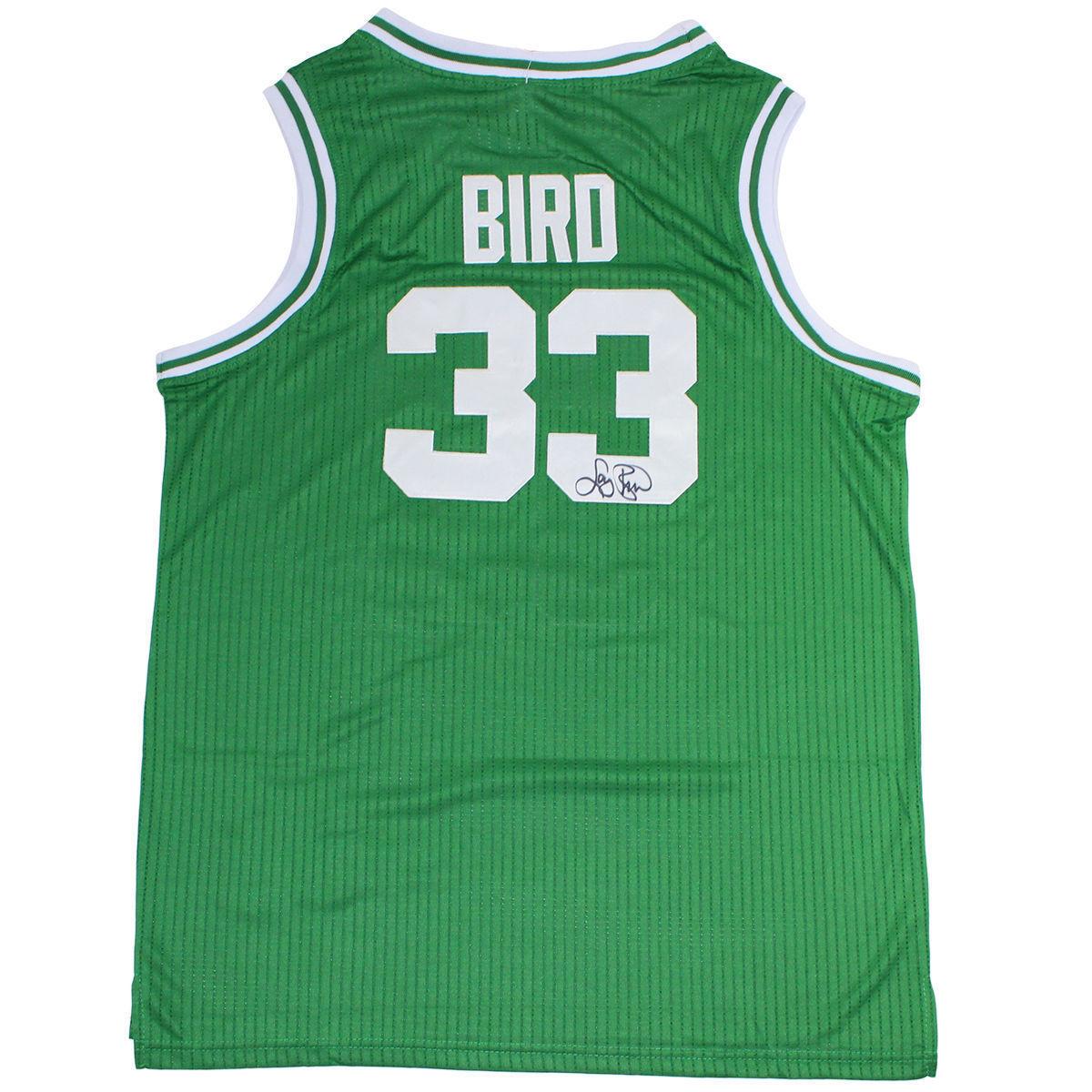 LARRY BIRD SIGNED CELTICS JERSEY BIRD HOLO COA AUTOGRAPH BOSTON INSCRIPTAGRAPHS