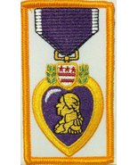 Purple Heart Embroidered Iron-on Patch Emblem Gold Border - $4.99