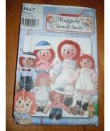 Vogue Classic Raggedy Ann & Andy Doll Pattern #9447 Uncut - $5.99