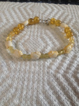 Yellow  Kitty Charm and Glass Beaded Girls Bracelet - $6.99