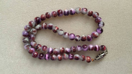 Purple Glass Beaded Necklace - $6.99