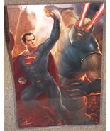 Superman vs Darkseid Glossy Print 11 x 17 In Hard Plastic Sleeve - $24.99