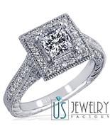 2.12 Carat (1.20) F-VS1 Princess Excellent Cut Diamond Engagement Ring 1... - $5,315.31