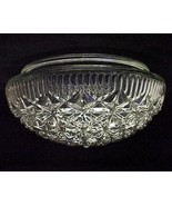 "Art Deco Glass 8"" Ceiling Light Fixture Pan Sha... - $12.95"
