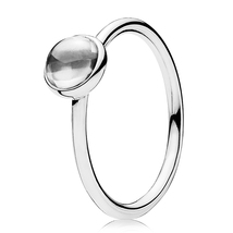 925 Sterling Silver Poetic Droplet Clear CZ Small Ring QJCB868 - $21.99