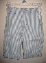 NEW WITH TAGS JANIE AND JACK ROLL UP COTTON STRIPED CUFF PANTS SIZE 18-2... - $19.79