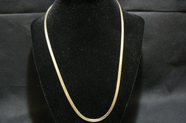 "Vintage Gold Tone Long Flat Chain 20 "" - $12.86"