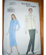 Very Easy Vogue Misses Size 8-12 Jacket Pattern #9574  - $1.99