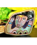 Vintage Washington Ledesma Pottery Terra Cotta Brooch Pin 1989 Signed - $54.95