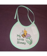 New My Little Honey Bee Bib Baby girl boy unisex Handmade Finished Cross... - $16.83