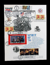 Extra Large Combo Page Spirit of 76 with Multi Stamps and Show Cancels - $29.99