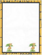 Baby Giraffes Stationery Printer Paper 26 Sheets - $9.89