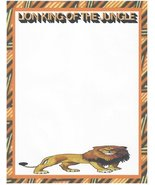 Lion King Of The Jungle Stationery Printer Paper 26 Sheets - $9.89