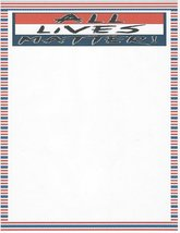 All Lives Matter Stationery Printer Paper 26 Sheets - $9.89