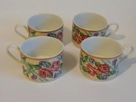 "Fitz & Floyd Omnibus Brittany Mug / Cup set of 4 ""Roses""  - $9.90"