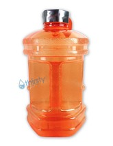 Orange BPA Free Water Bottle 2.3L Hexagon Canteen Gym Jug Container Stee... - $271,08 MXN