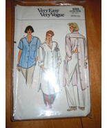 Very Easy Vogue Misses Size 8-12 Shirt Pattern #9324  - $5.99