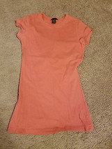 Forever 21 salmon fitted long cotton/spandex T-shirt juniors S - $9.49