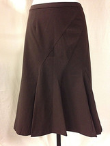 Worthington Brown Paneled Full Skirt Size 10 Lined - $19.79