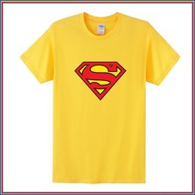 Super Hero's Supermen's Yellow Cotton Short Sleeve O Neck Tee Shirt
