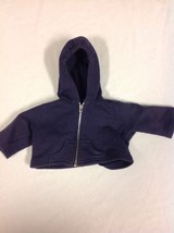 American Girl Today Navy Blue Zip Up Hooded Jac... - $12.86