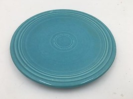 "Vintage Genuine Fiestaware Turquoise 6-3/8"" Saucer HLO Made in USA DH - $4.95"