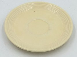 "Vintage Genuine Fiestaware Old Ivory 6-1/4"" Saucer HLO Made in USA DH - $4.95"