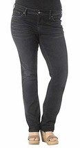 Silver Jeans Plus Women's Aiko Mid Straight 24 X 32