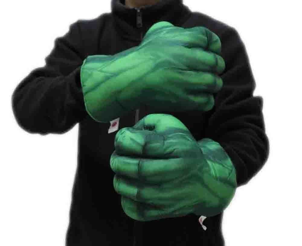 One Pair Hulk Smash Hands Soft Toy Doll Boxing Gloves Big Funny for kids gift