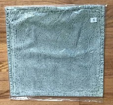 Pottery Barn Chenille Jacquard Pillow Cover 20 sq Light Blue New - $46.50
