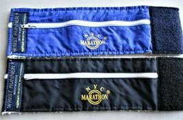 2 Wrist Runner Bands   STORAGE  Velcro   NYC Marathon  Black / Blue  EUC - $2.96